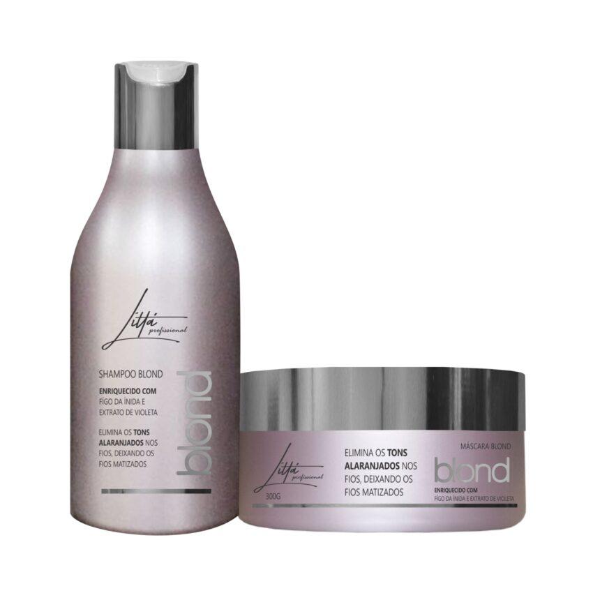 Kit Blond Shampoo 300ml + Máscara 300g - Littá Profissional Bela Berê