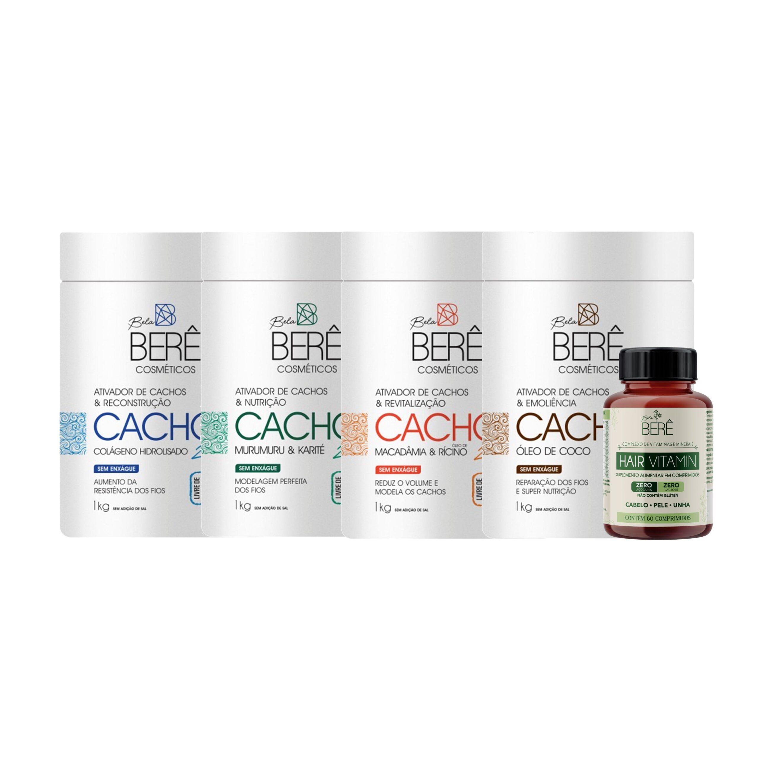 ativadores + hair vitamin + binde